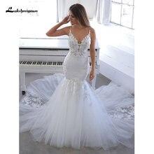 Lakshmigown свадебное платье на тонких бретельках с открытой