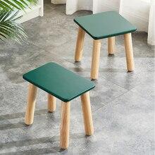 Детская мебель Children's Stool Simple Household Small Square Seat Solid Wood Tea Table Wooden Stools Creativity барный стул