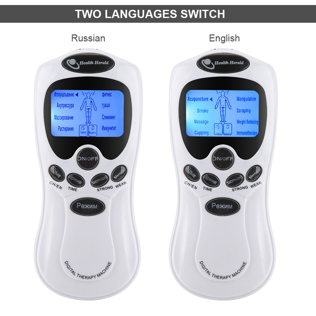 TENS Body Massager Digital Acupuncture EMS Therapy Device Electric Pulse Massager Muscle Stimulator Pain Relief Physiotherapy 3