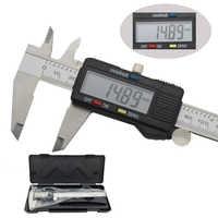 150 millimetri elettronico digitale compasso a nonio di micrometro 6-pollici Widescreen display LCD In acciaio inox metallo pinza strumento di misura