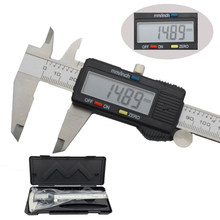 150mm digital electronic vernier caliper micrometer 6-inch Widescreen LCD display Stainless steel metal caliper measuring tool 0 300mm double columns digital height gage electronic caliper lcd screen stainless steel measuring tool