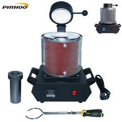 3 кг плавильная печь для золота цифровой плавильной печи машина отопление Ёмкость 2100W литья переработка драгоценные металлы золото серебро