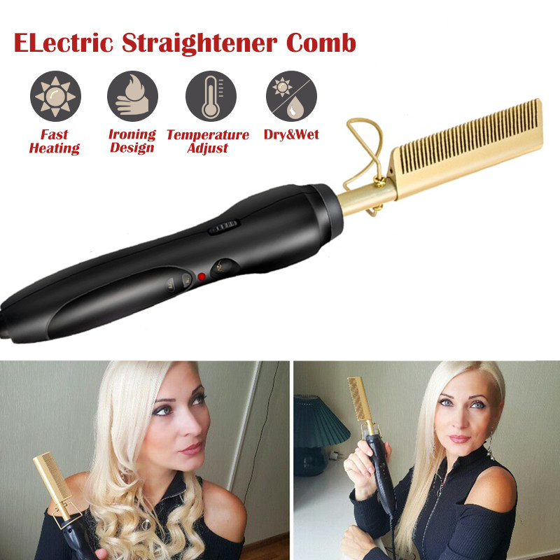 Professional Hair Brush Straightener Hot Comb Smoothing Brush Electric Heating Comb Styler Straightening Iro  Hair Styling Tools