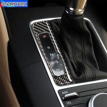 Carbon Fiber Car Center Konsole Getriebe Shift Panel Dekoration Aufkleber Trim Für Audi A3 8V S3 2014 2018 LHD Innen Zubehör