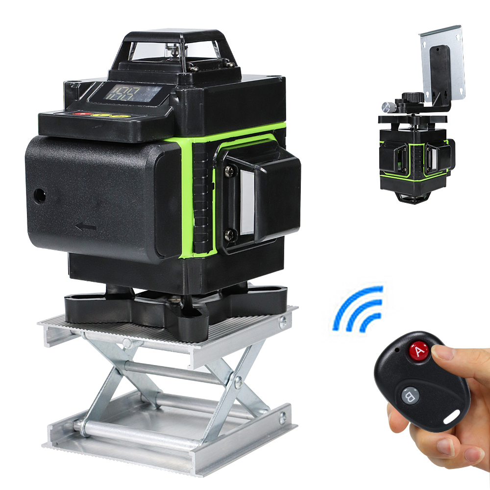 16 Lines 4D Laser Level cross line Green laser level self-leveling multipurpose level laser horizon vertical measure <font><b>12</b></font> Line <font><b>3D</b></font> image