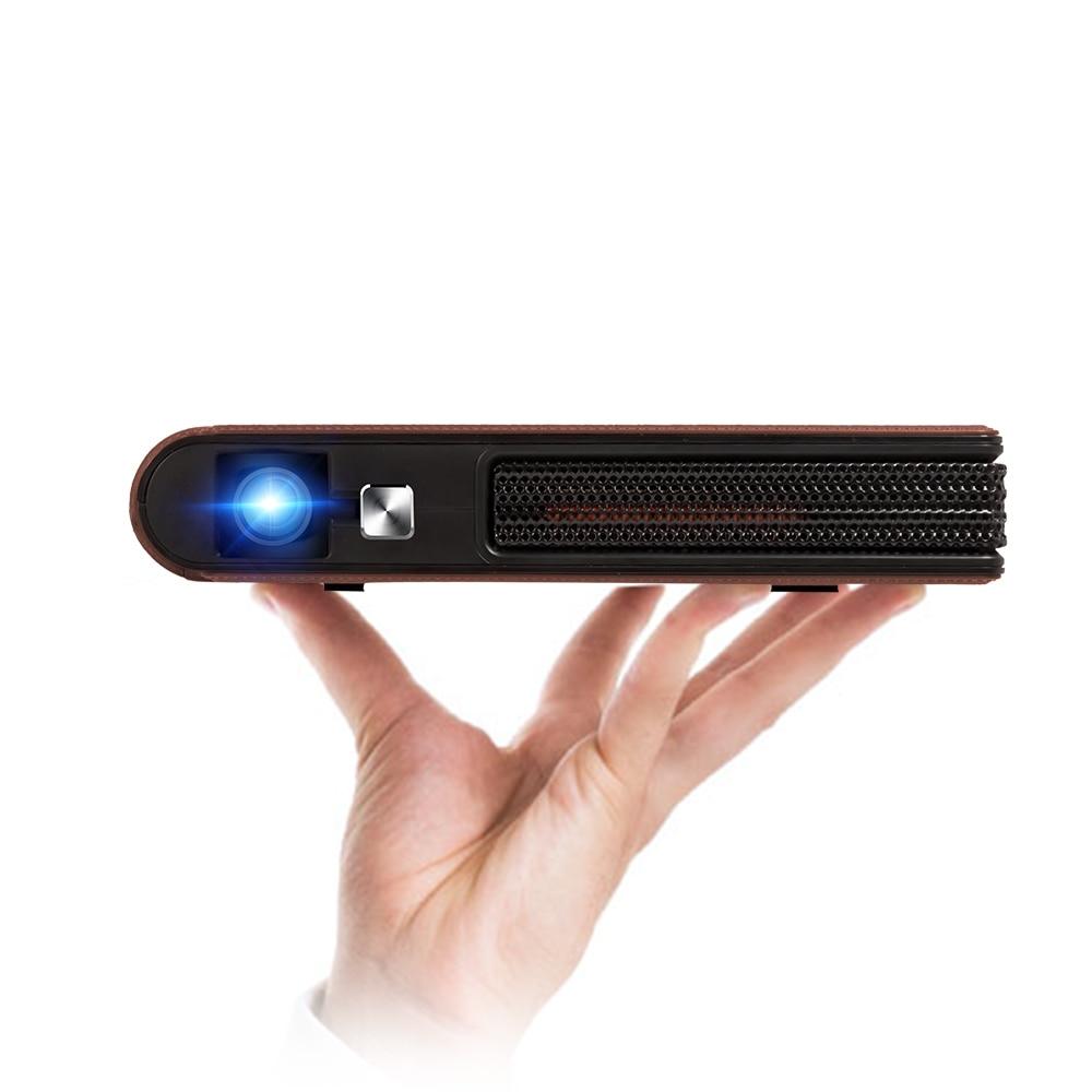 Карманный Wi-Fi проектор Мини HD DLP батарея поддержка 1080P Airplay 3D, маленький беспроводной портативный размер Pico с динамиком Авто Keystone