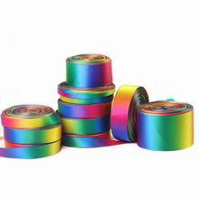 10Yards/Roll rainbow silk Satin Ribbons for crafts Christmas Decorative DIY Polyester Ribbon Handmade Bows Flower Gifts Wrapping
