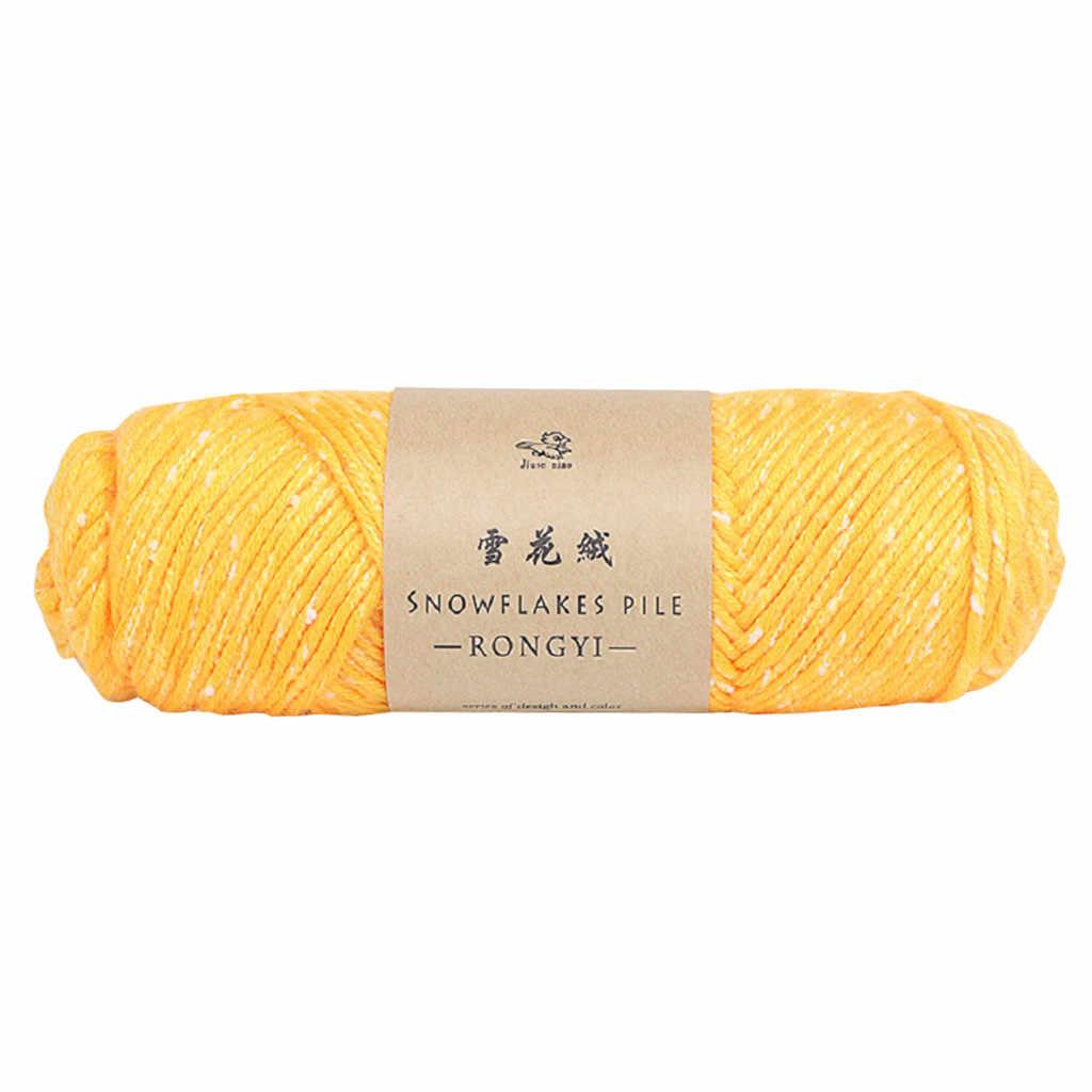 Bufanda de copo de nieve línea Diy Crochet grueso lana suéter bebé línea amante algodón bufanda sombrero Cambio de espesor lana hilo ropa