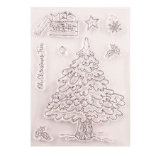 Christmas Tree DIY Stamp Star Transparent Silicone Clear Stamp Seal Sheet For Scrapbooking Photo Album Decor