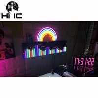 Pantalla de espectro de Audio de música RGB a todo Color, luz LED de ritmo de escenario KTV, indicador de nivel de 64 modos, Medidor de VU DIY