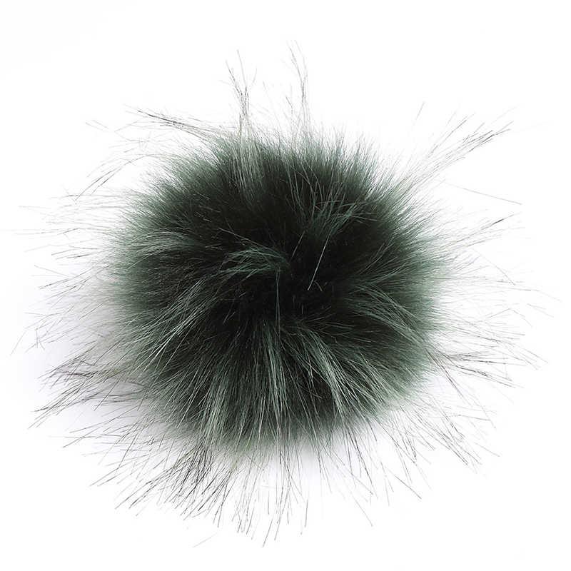 Pluizige Nep Vos Bont Pompons 10cm DIY Vos Bont Pom Poms Ballen Natuurlijke Bont Pompon Voor Sjaals Hoeden Tassen accessoires