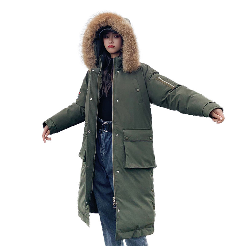 Chic Fur   Coat   Hooded Winter   Down     Coat   Jacket Student Warm Casaco Feminino Abrigos Mujer Invierno Cotton padded Wadded Parkas 12