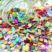 20g 4mm mixed Color Plastic Flat Sakura Scrap-booking Sequins Loose For Nail Art Wedding Party Decoration
