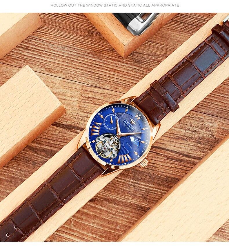 Luxus Mechanische Getriebe Uhr Männer geschenk Japan Bewegung Automatische schwarz selbst wickler Sapphire Uhr Marke Männer Metall Lünette - 5