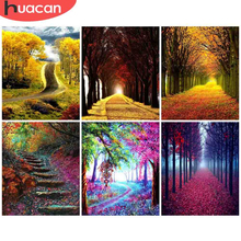 Landscape-Painting Numbers-Tree HUACAN Pictures Drawing Canvas Home-Decor DIY on by Art-Kits