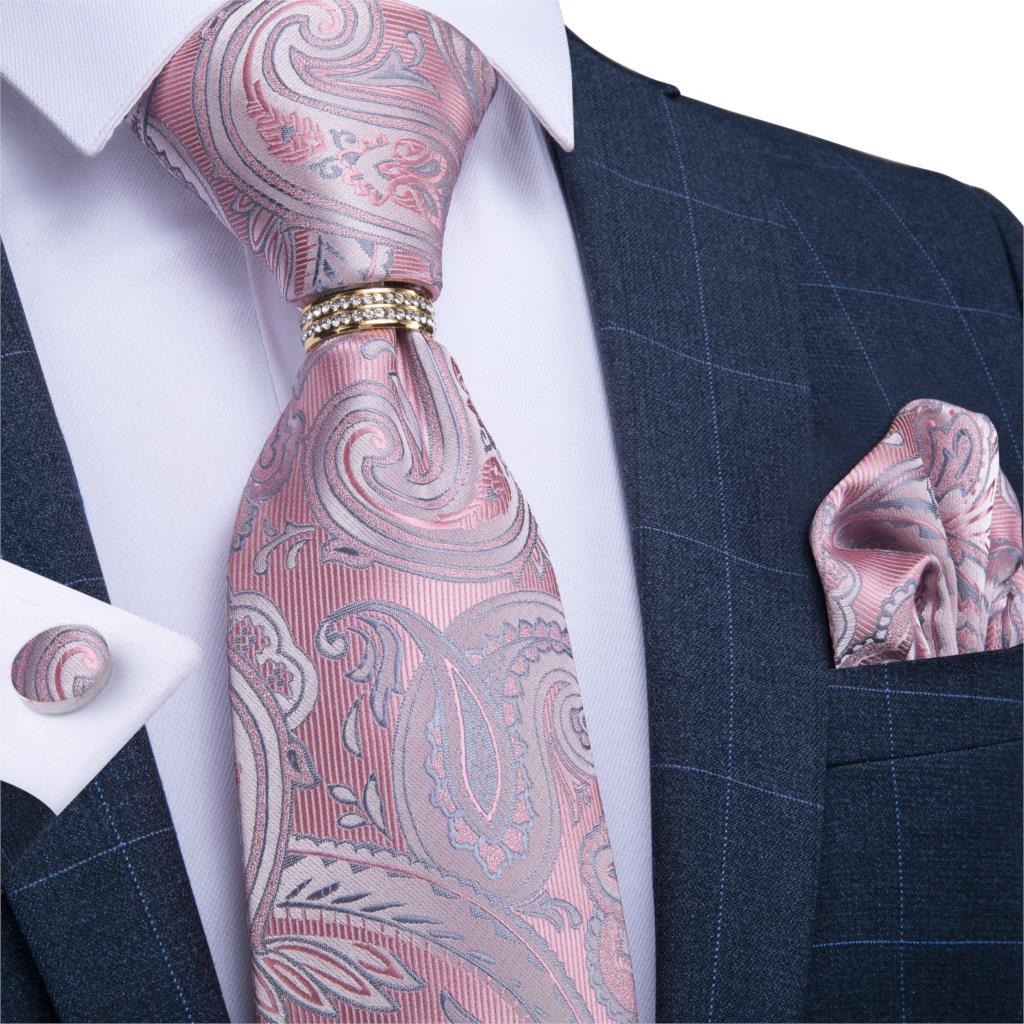 Rosa Paisley Bandana Fascia per capelli neckscarf Cravatta Accessorio Costume Cappucci