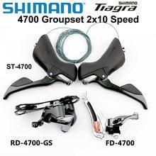 Shimano tiagra 4700 groupset 4700 desviadores de estrada bicicleta 2x10 velocidade sl/st 4700 + fd 4700 frente desviador traseira