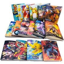 Nouveau 240 pièces personnages carte Collection cahier jeu carte à jouer Album Pokemones cartes titulaire nouveauté cadeau pour les enfants