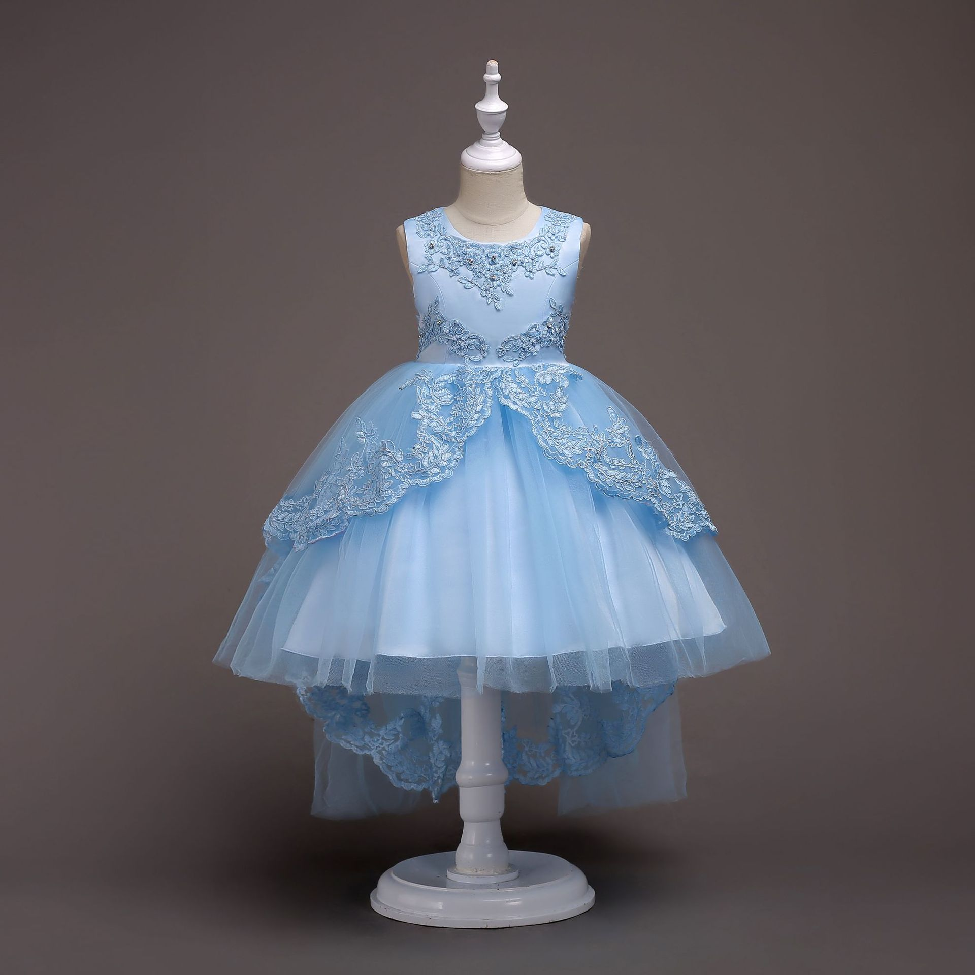 Children Formal Dress Princess Tutu Beaded Gauze Tutu Wedding Flower CHILDREN'S Dress