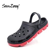 Letnie modne buty wsuwane męskie gumowe plażowe sandały męskie drewniaki buty ogrodowe Zuecos Hombre Clog Cholas sandał człowiek Plus duży rozmiar 49s
