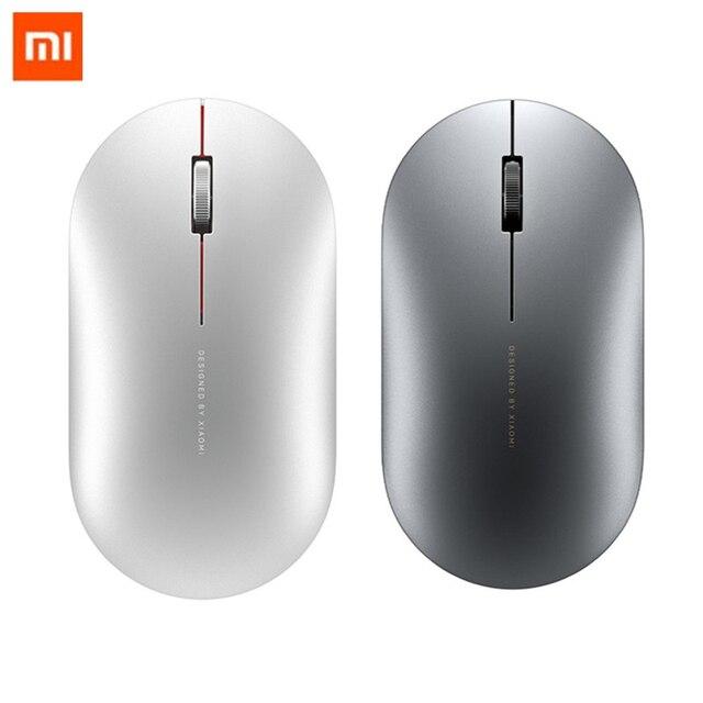 מקורי Xiaomi אופנה עכבר נייד אלחוטי משחק עכבר 1000dpi 2.4GHz Bluetooth קישור אופטי עכבר מיני נייד מתכת עכבר