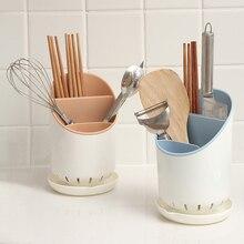 Органайзер для столовых приборов кухонный держатель для хранения аксессуаров пластиковый дренажный стеллаж для сушки посуды палочки для еды ложка контейнер для вилок