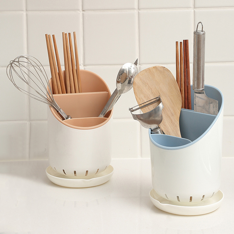 Cutlery Organizer Storage Holder Kitchen Accessories Plastic Drain Dish Drying Rack Tableware Chopsticks Spoon Fork Container