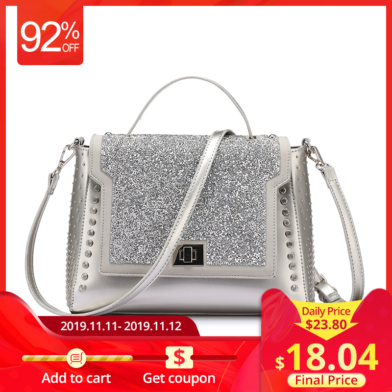 LOVEVOOK Brand Fashion Bags Handbags Women Famous Brands Diamonds Shoulder Bags Diamond Handbags High Quality Messenger Bags