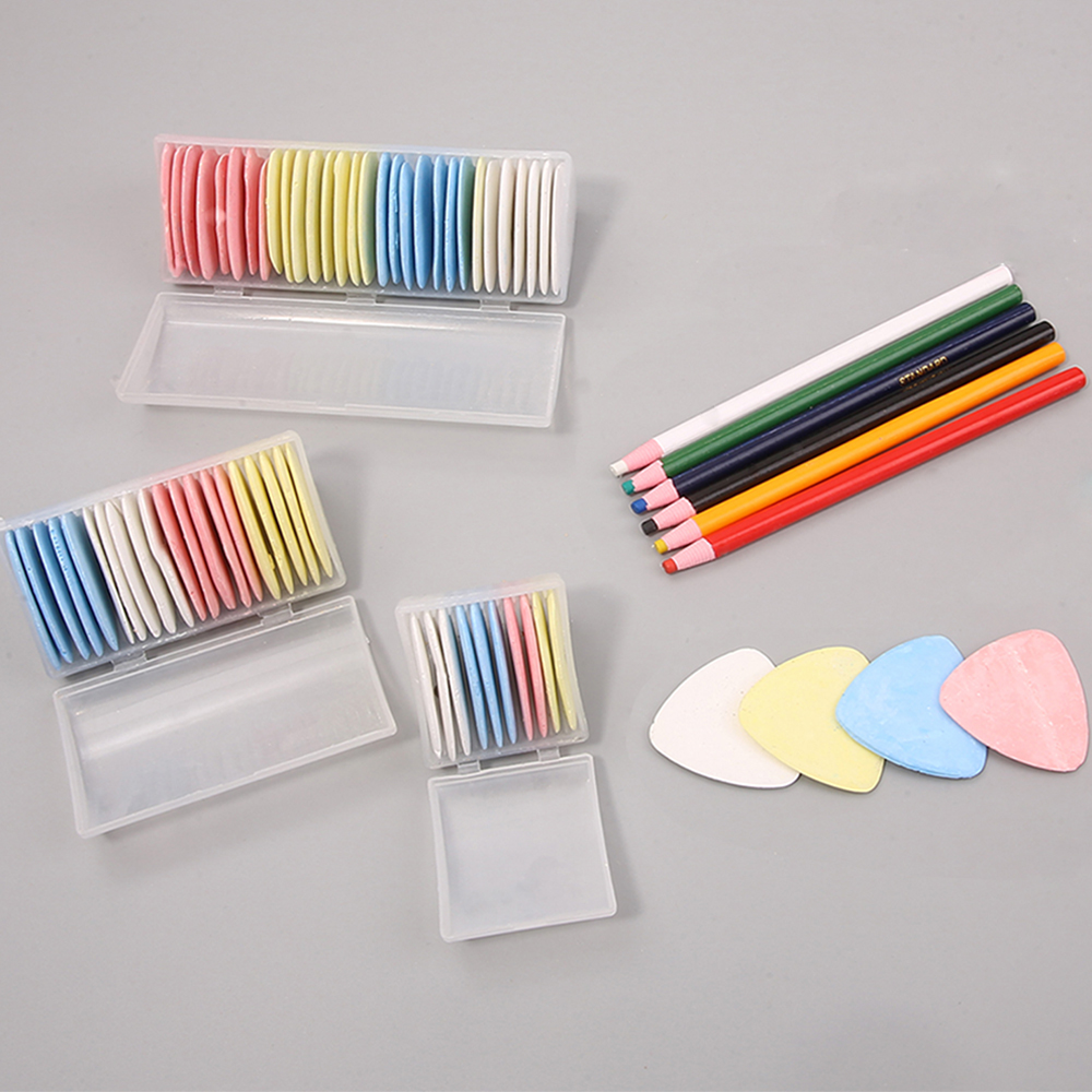 Multicolor Fabric Tailors Chalk Erasable Fabric Marker Patchwork Clothing Pattern DIY Sewing Tool Box Set Needlework Accessories(China)
