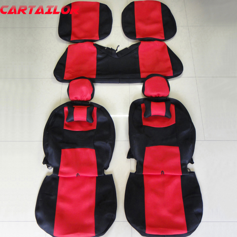 CARTAILOR seat cover for peugeot 206 cc car seat covers accessories set sandwich car styling seats protector black auto cushion