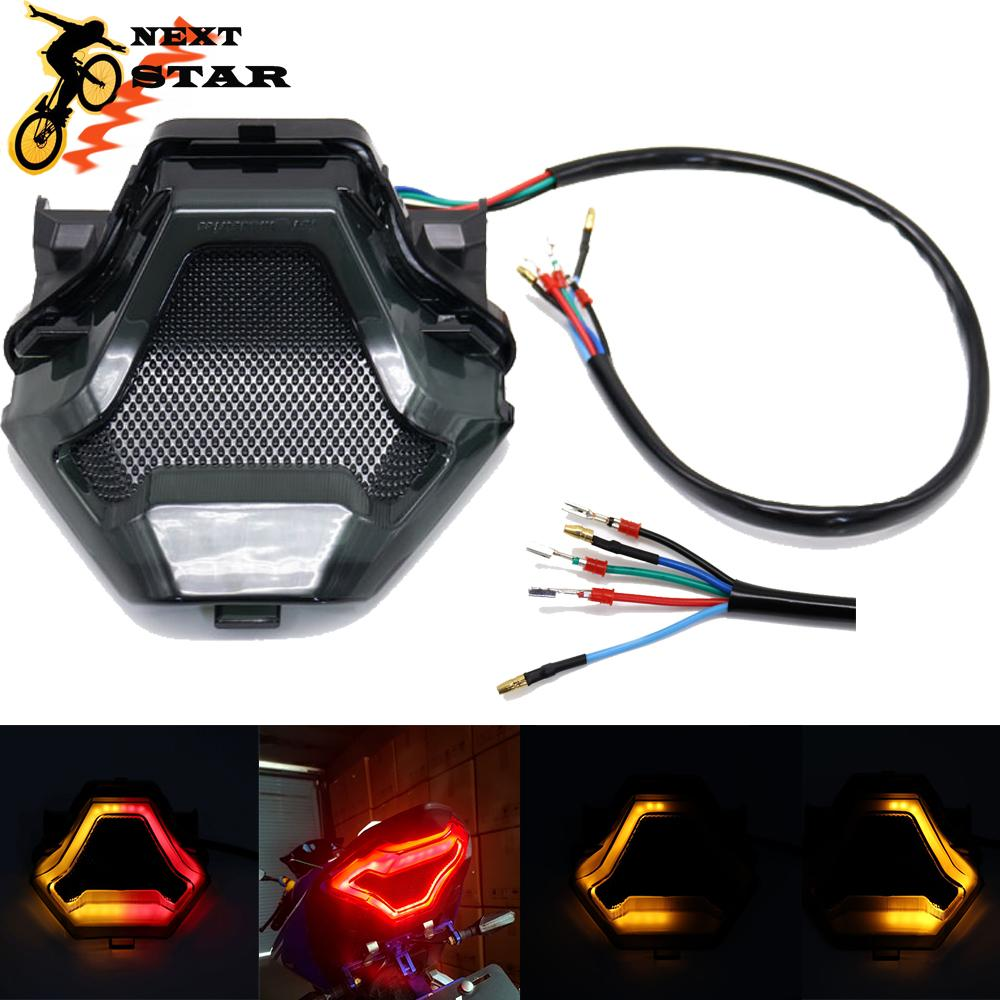 New Motorcycle LED Taillight Brake Rear Turn Signal Indicator Lamp Tail Light For Yamaha YZF R3 R25 Y15ZR MT-07 YZF FZ07 LC150