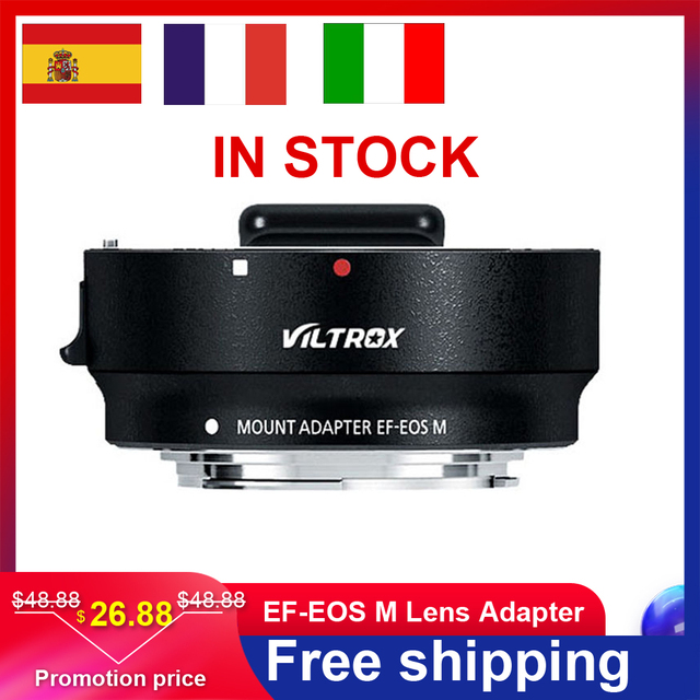 ขายร้อนVILTROX Auto Focus EF EOS M MOUNT Mount Adapterสำหรับกล้องCanon EF EF Sเลนส์สำหรับCanon EOSกล้องMirrorless