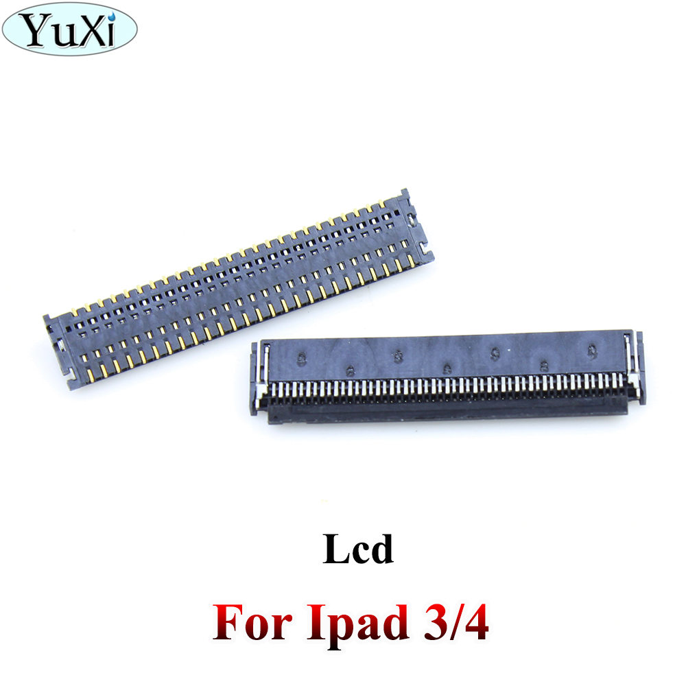 YuXi FPC LCD Screen <font><b>Display</b></font> <font><b>Connector</b></font> On Logic Board Motherboard For ipad 3 4 LCD Flex image