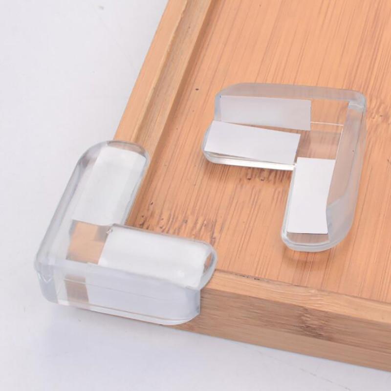 4pcs Transparent Ball L Shape Baby Safety Corner Protector Clear Table Desk Edge Corner Guards