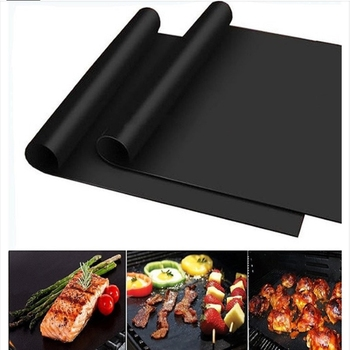 Non-stick Barbecue Grill Mat 40*33cm Cooking PTFE Mat Cooking Grill Bed Cover Heat-resistant Easy To Clean Kitchen Utensils image
