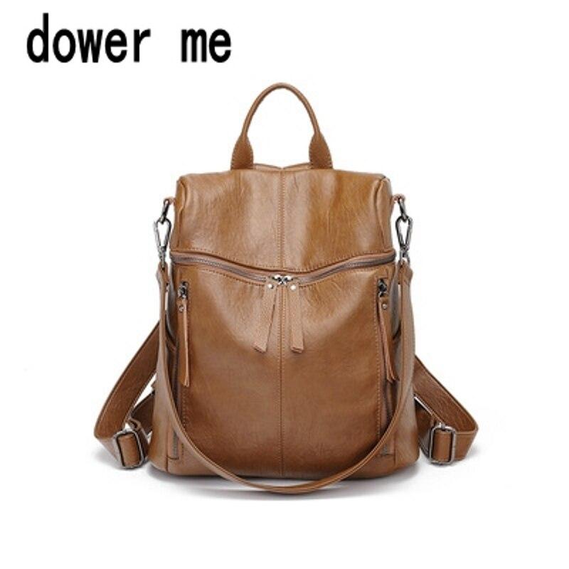 Dower me 001 à la mode femme cordon en cuir PU sacs à dos adolescentes petits sacs d'école femmes de haute qualité sac à dos décontracté