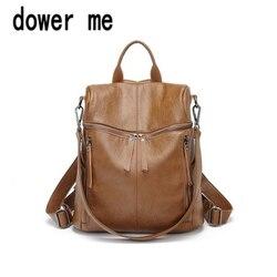 Dower me 001 mochilas de cuero PU con cordón de moda para mujer mochilas escolares pequeñas para niñas adolescentes mochilas casuales de alta calidad para mujeres