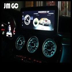 Светодиодный светильник-излучающий воздушный выход для Mercedes-Benz W205 W213 X253 окружающий светильник AC вентиляционные отверстия синхронный ориги...