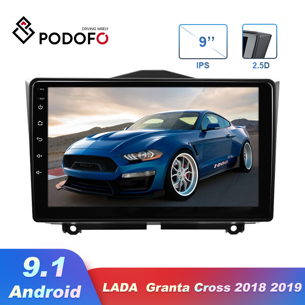 9 2.5D Recorder For LADA Granta Cross 2018 2019 Car Radio Android 2din Multimedia MP5 Navigation GPS Touch Screen No DVD Player image