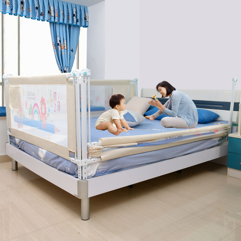 Купить с кэшбэком Baby Bed Fence Home Kids playpen Safety Gate Products child Care Barrier for beds Crib Rails Security Fencing Children Guardrail