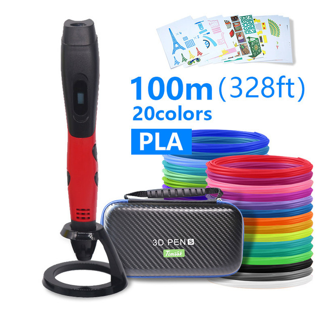High quality 3D pen 3D printing penABS and PLA filament 1 75mm  USB output low voltage security with beautiful storage bag
