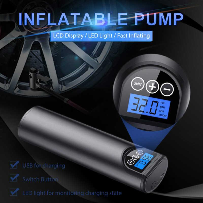 12V 150PSI Oplaadbare Luchtpomp Tire Inflator Draadloze Draagbare Compressor Digitale Autoband Pomp Voor Auto Fiets Banden Ballen