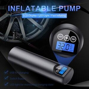 Image 2 - Pompe à Air électrique sans fil pour pneus, système de gonflage de roues avec écran LCD, pour voiture, vélo, 12V, 150psi