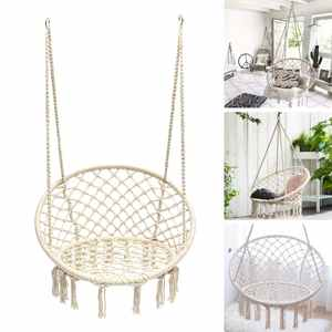 Hammock Chair Swing-Bed Cotton Rope Outdoor Nordic Kids Adult Knitted Handmade