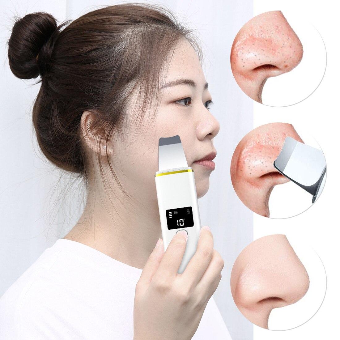 Esfoliador de pele facial, espátula removedora de
