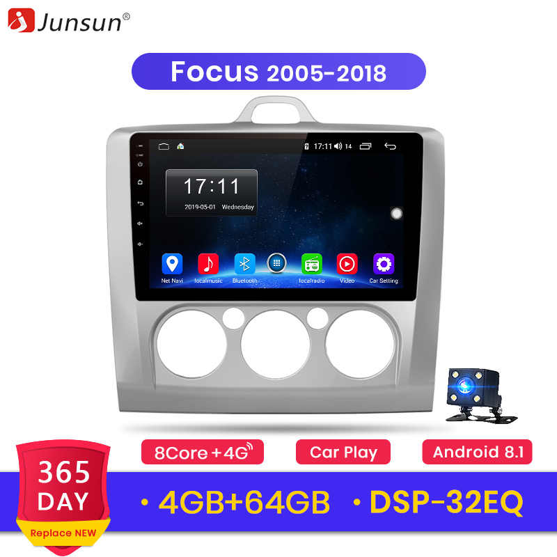 Junsun radio coche 2G + 32G Android 8,1 4G auto Radio Multimedia Video Player navegación GPS para ford focus 2 3 Mk2/Mk3 2005-2018 2012 radio 2 din android