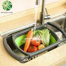 Duolvqi складные дуршлаги складные корзины Складные кухонные ситечки лапша фруктовые овощные моющие ситечки чаши
