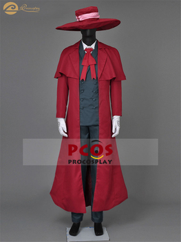 Hellsing Alucard Japanese Anime Cosplay Costume & Hat mp000443