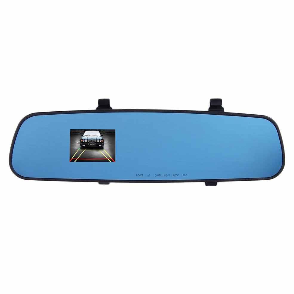 2.4 ''120 Độ Full 1280 * 720HD Gương Đầu Ghi Hình Máy Ghi Hình Xe Hơi Dash Cam Video Phía Sau Làn Sóng Xanh hồng Ngoại Quan Sát Ban Đêm