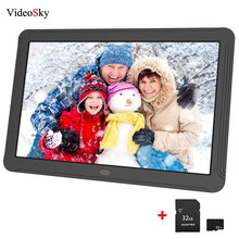 цена на 8 HD Screen Touch Digital Photo Frame Alarm Clock MP3/4 Movie video Player with speaker music Playing Wireless Remote Control